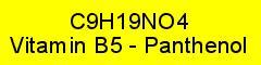 Vitamin B5 - Panthenol rein; 100g