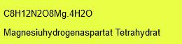 Magnesiumhydrogenaspartat Tetrahydrat; 25g