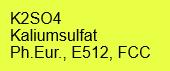 Potassium sulfate 99.9+%, FCC; 1kg